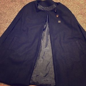 Jackets & Blazers - Stunning black cape with button closure